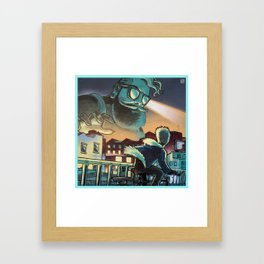 Hipster Invader Forthcoming Framed Art Print