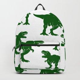 Dinosaur Pattern Tyrannosaurus Rex Dinosaurs Collage Velociraptors Backpack