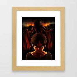 Eren Jaeger Artwork Framed Art Print