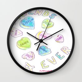 Friends Are Forever Wall Clock