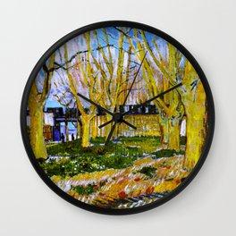 Avenue of Plane Trees near Arles Station, Vincent van Gogh Wall Clock