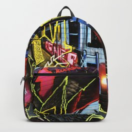 Manchester Northern Quarter Subway Train Graffiti Backpack