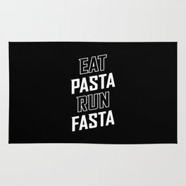 Eat Pasta Run Fasta Rug