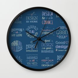 Call a Designer Wall Clock