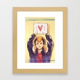 Heart Sign Framed Art Print