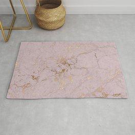 Chic mauve pink gold elegant stylish marble Rug