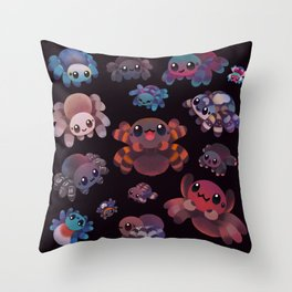 Tarantulas - dark Throw Pillow