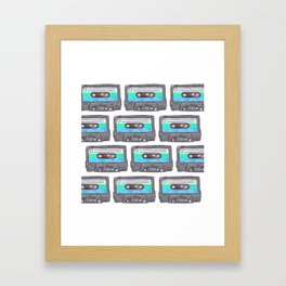 Cassette Patten *Light Blue Framed Art Print