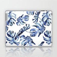 Blue Palm Leaves Laptop & iPad Skin