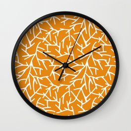 Branches - Orange Wall Clock