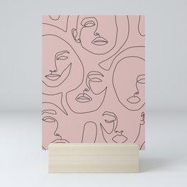 Blush Faces Mini Art Print