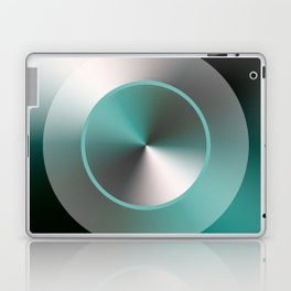 Serene Simple Hub Cap in Aqua Laptop & iPad Skin