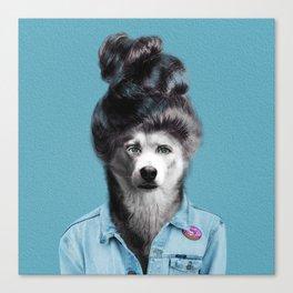 HUMAN DOG Canvas Print