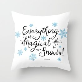Gilmore Girls Quote - Magical Snow Throw Pillow