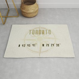 Toronto - Vintage Map and Location Rug