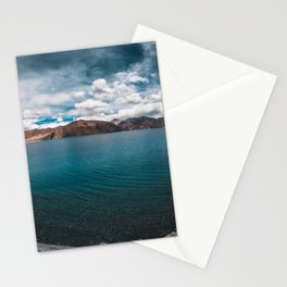 Beautiful Landscape with Mountains & lake Stationery Cards