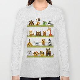 Adorable Zoo animals Long Sleeve T-shirt