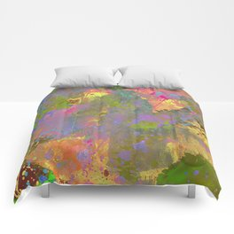 Messy Art II - Abstract, pastel coloured artwork in a random, chaotic, messy style Comforters