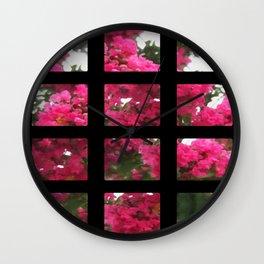 Crape Myrtle Art Rectangles 2 Wall Clock