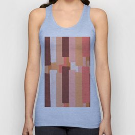 Line In Coral #society6 #abstractart Unisex Tank Top