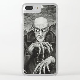 The Classic Horror (Vintage Vampires) Clear iPhone Case