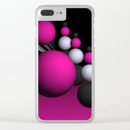 go pink -14- Clear iPhone Case