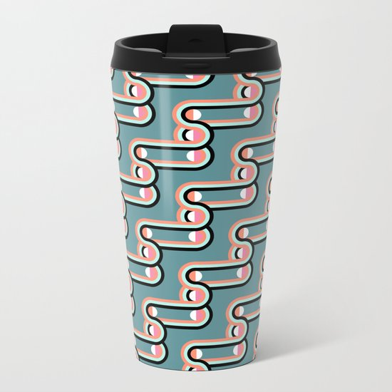 UNCHAINED PATTERN (abstract geometric) Metal Travel Mug