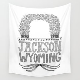 Jackson Wyoming Antler Arch Wall Tapestry