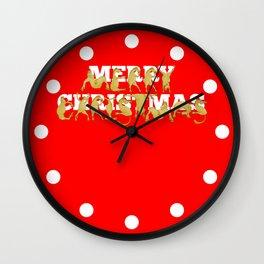 Merry Christmas Ponies Wall Clock