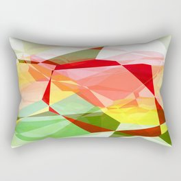 Red Rose with Light 1 Abstract Polygons 2 Rectangular Pillow