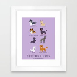 SCOTTISH DOGS Framed Art Print