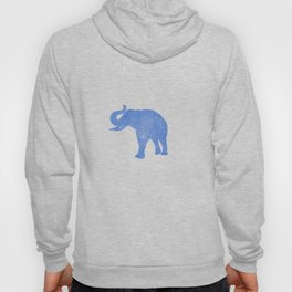 Watercolor Flowers & Elephants II Hoody