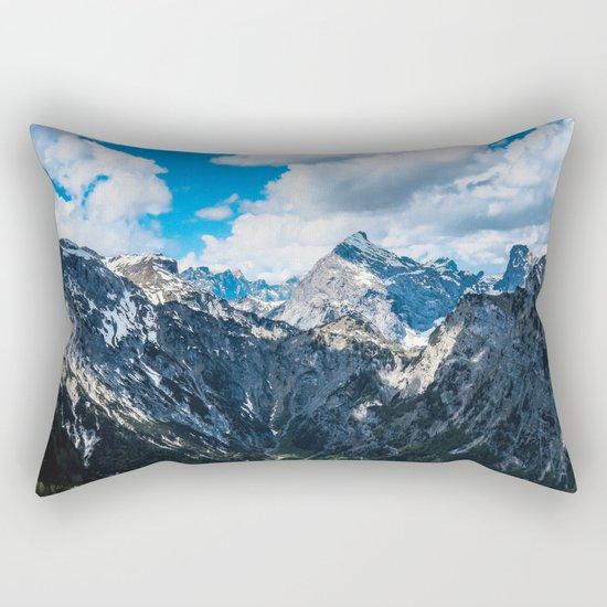 Overcoming Mountains Rectangular Pillow