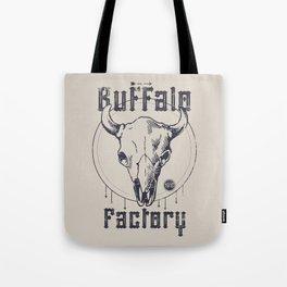 BUFFALO FACTORY  Vintage Skull Tote Bag
