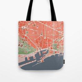 Barcelona city map classic Tote Bag