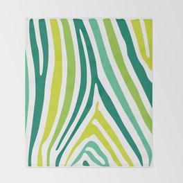 Zebra Print Throw Blanket