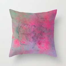 Pink Galaxy Throw Pillow