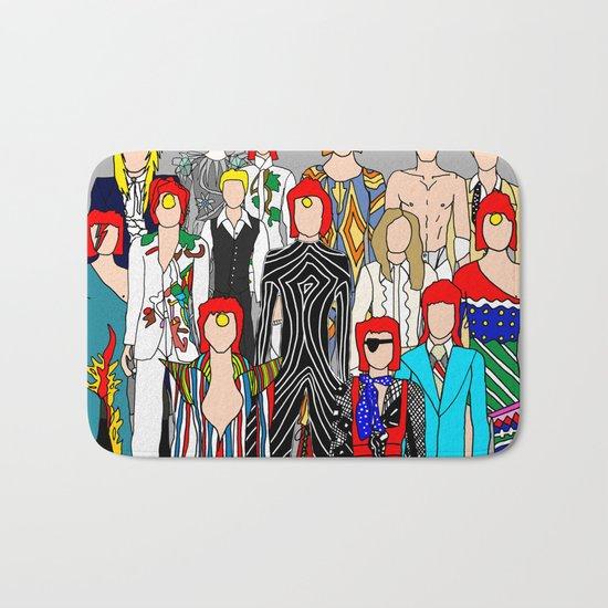 Bowie Doodle Square Bath Mat
