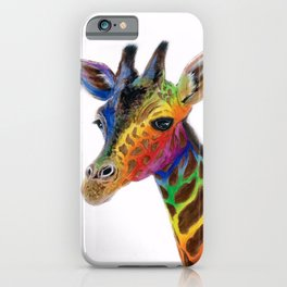 GRACEFUL GIRAFFE ABSTRACT PAINTING iPhone Case