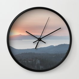 Mountain Top View Wall Clock