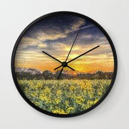April Afternoon Field Art Wall Clock