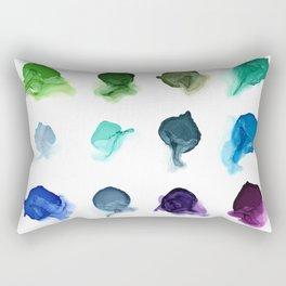 Rainbow Ink Swatch Splotches Painting Rectangular Pillow
