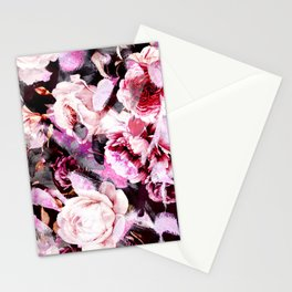 Roses in abstraction Stationery Cards