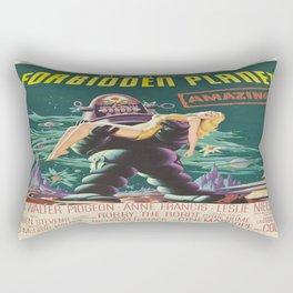 Vintage poster - Forbidden Planet Rectangular Pillow