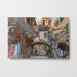 All About Italy. Piece 12 - Monterosso Houses Metal Print
