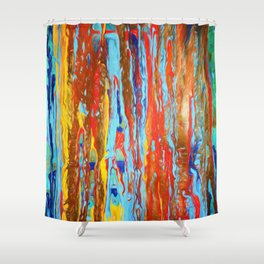 Abstract Composition 382 Shower Curtain