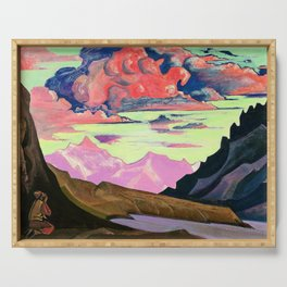 Nicholas Roerich - Maitreya The Conqueror - Digital Remastered Edition Serving Tray