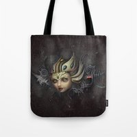 lydia martin Tote Bags featuring Lydia by SugarFlesh