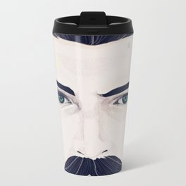 Mustache Metal Travel Mug