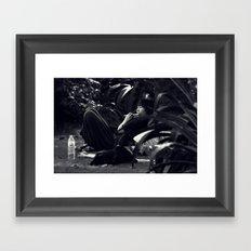 The flautist Framed Art Print